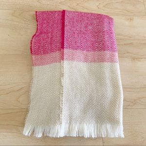 Isaac Mizrahi New York Scarf Pink & Beige